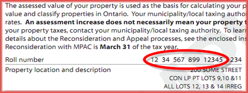 MPAC Property Assessment Notice